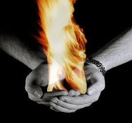 Fire - square or rectangular palm, flushed or pink skin, and shorter fingers; length of the palm is greater than length of fingers.
